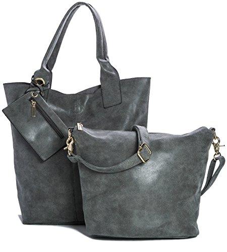 Big Handbag Shop - Sacchetto donna Grigio (grigio)