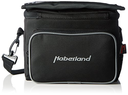 Haberland Fahrradtasche Lenkertasche 6L Schwarz Inklusive Klick-Fix-Adpter, LKF808 00