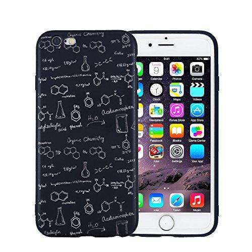 iPhone 6 Hülle, FACEVER lustige Chemie-Mathe-Formel Schlank Anti-Fingerabdruck Handytasche für iPhone 6 6S, 4.7 Zoll -Chemie 02