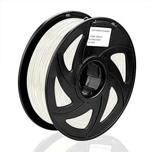 SIENOC SIENOC 1 Packung 3D Drucker PLA 3.00mm Printer Filament - Mit Spule 1kg (Transparent)
