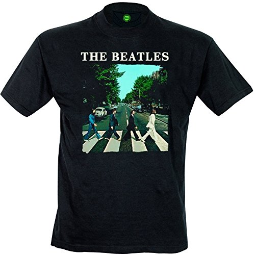 Unbekannt The Beatles Herren T-Shirt Abbey Road and Logo, Schwarz (Black), XXL (Abbey Road Schwarz T-shirt)