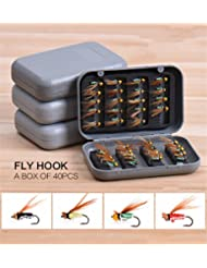 JasCherry 40pcs/box insecte voler appâts de pêche Lure Leurres - le meilleur choix pour la pêche appâts leurres de pêche pour d'eau douce