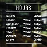 opening hours sign opening times sign for shop window sticker open closed sign business hours personalised business window stickers personalised bespoke signage decals