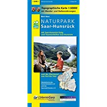 Naturpark Saar-Hunsrück, Blatt West mit Saar-Hunsrück-Steig, den Traumschleifen Saar-Hunsrückund der Obermosel von Perl bis Trier: Naturparkkarte Rheinland-Pfalz 1:50000/1:100000