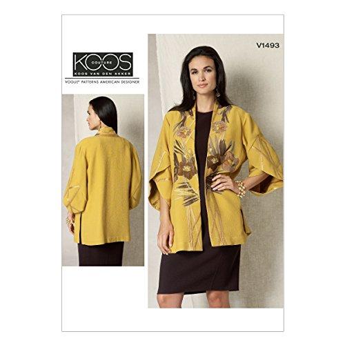 Vogue Mustern 1493y Größen XS-Medium Schnittmuster Jacke