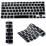 """Española Cubierta del teclado / Keyboard Cover para MacBook Pro 13"""" 15"""" 17"""" & Air 13"""" EU/ISO Disposición Silicone Skin-negro"""