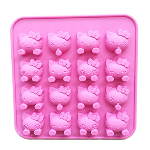 SiliconeZone Collection Hello Kitty 18.5 * 18.5 * 1.8cm Hello Kitty Faces 58 Chocolate Mold