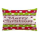 VENMO Weihnachten Rechteck Baumwolle Kissenbezüge Pillow Cases Cushion Covers kinderbettwäsche bettwäsche kissenhüllen dekokissen für sofa baumwoll kissenbezug couchkissen Niedliche (A)