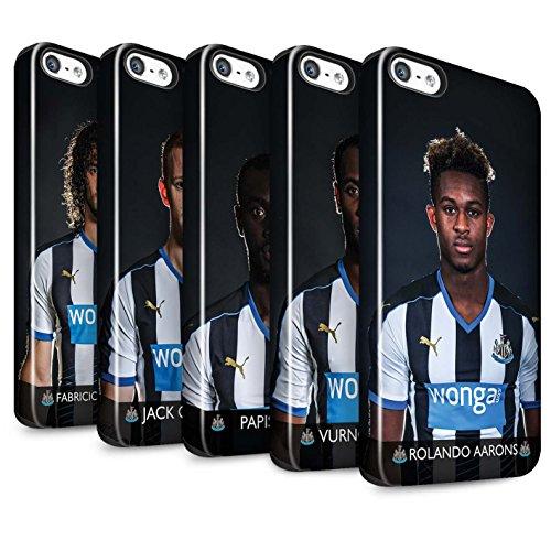 Offiziell Newcastle United FC Hülle / Glanz Harten Stoßfest Case für Apple iPhone 5/5S / Pack 25pcs Muster / NUFC Fussballspieler 15/16 Kollektion Pack 25pcs