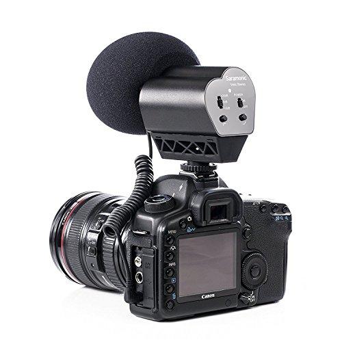 Saramonic VMIC Kamera Mikrofon Richtrohrmikrofon Mikrophon mit Stereo für Nikon/Canon Camcorder 3,5mm-Klinke