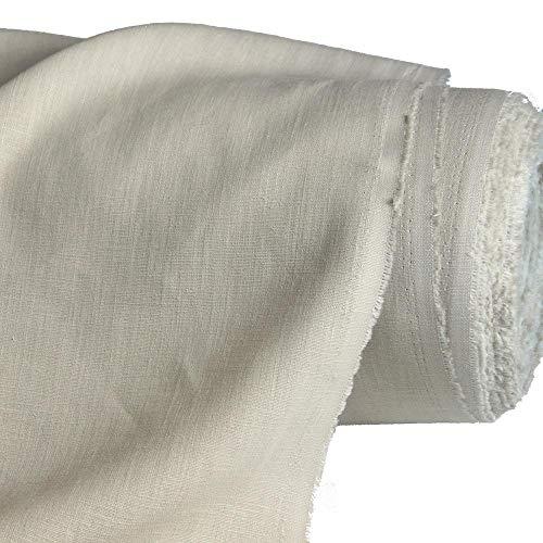 Einfache Kostüm Bauern - TOLKO Leinen -Stoff Meterware | blickdichter Naturstoff | für Kleid, Hose Rock, Bluse, Gewand, Vorhänge, Gardinen und Dekorationen | 140cm breit (Natur Beige)