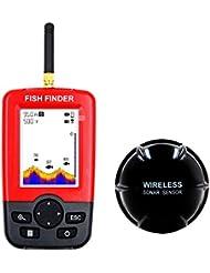 MBEN Buscador de Peces, Sensor portátil de Sonar inalámbrico, Monitor LCD de Mano,