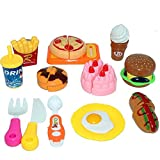 #9: Halo Nation 12 pcs Fast Food Set, Kitchen Role, McDonalds Restaurant Role Pretend Play Toy for Kids