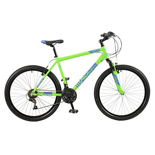 51EMOmFH7WL. SS500  - Falcon Men's Merlin Mountain Bike-Green, 12 Years, 19-Inch