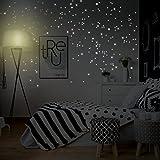 WANDKINGS 261 Leuchtpunkte für Sternenhimmel, extra Starke Leuchtkraft, Wandsticker Leuchtaufkleber, Fluoreszierend und im Dunkeln Leuchtend - 3