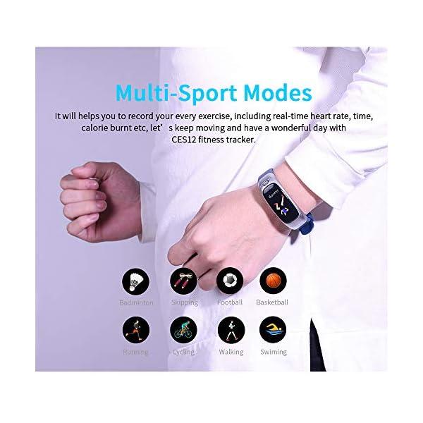 Festnight CES12 Fitness Tracker USB Flash Drive Reloj Inteligente Contador de Pasos Universal Monitor de Ritmo cardíaco Deporte Reloj Resistente al Agua 9
