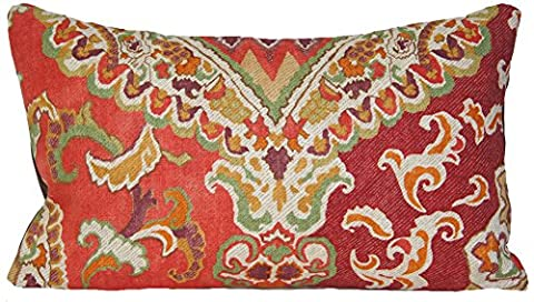 Red And Mustard Berber Cushion Cover Oriental Design Accent Pillow Throw Case Osborne and Little Fabric by Osborne and Little