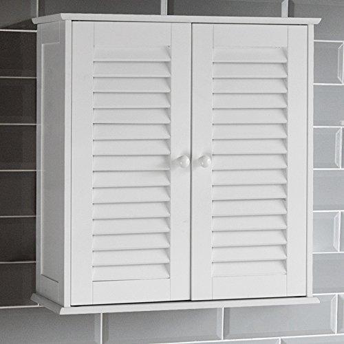 Bath Vida Liano Wandbadschrank mit Zwei Türen (Jalousie-schrank-türen)