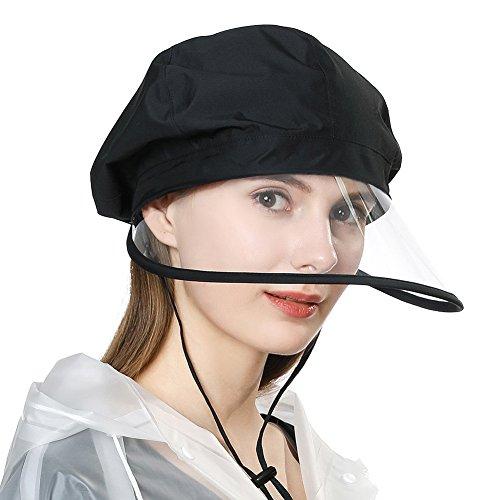 SiggiHat Rollbarer Regenhut Wasserdicht Waterproof Accessoires Damen mit Kinnband Schwarz SIGGI -