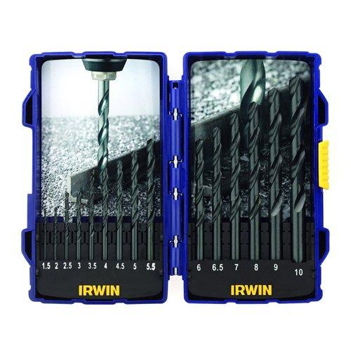 Irwin - Juego de brocas de acero rápido (15 unidades)