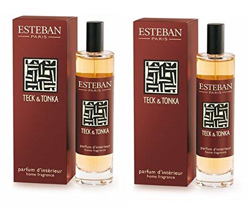 Esteban - 2 x Spray Ambienti Casa 100 ml Profumo Teck & Tonka