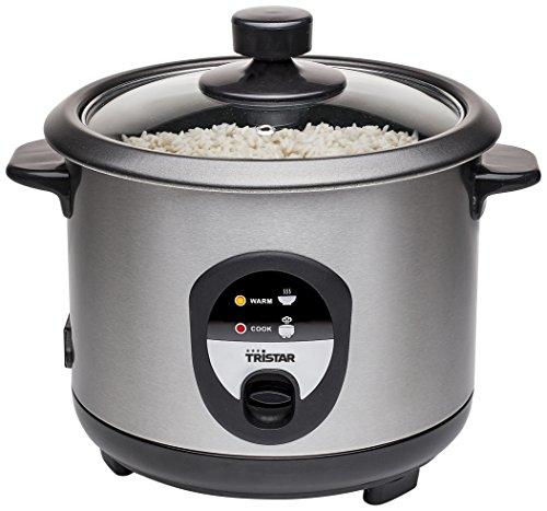 Si te gusta hacer creaciones culinarias con arroz y quieres un artículo práctico en tu hogar, no puedes perdertes la arrocera Tristar RK6126! Este hervidor de arroz quedará genial en tu cocina. Ideal para cocer aprox. 5 tazas. Incluye: 1 vaso medidor...
