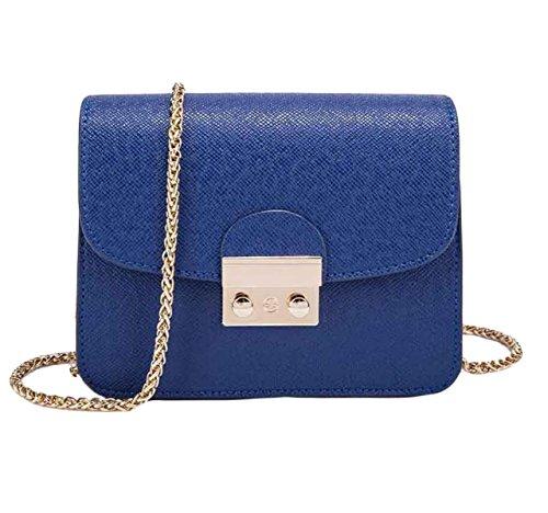 Selvaggio Bag Ragazze Piccolo Sacchetto Del Pacchetto Quadrato Tracolla Messenger Catena Di Borsa Del Pacchetto Di Blocco Regalo Di Natale Blue
