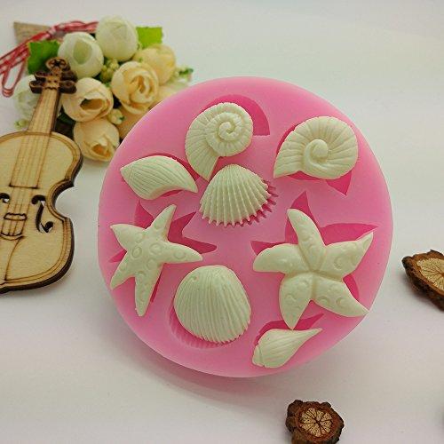 Dot Sea Star Shell Fisch Silikon Form Schokolade Kuchen Cookie Backblech Backgeschirr Round