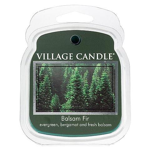 Village Candle 106101383 Cire Fond avec Motif Balsam Fir Vert 8,6 x 7,3 x 2,7 cm