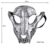 FUPOA Unisex Halloween Mardi Gras Face Sheep Skull Mask Cattivi Costume Party Ball Rave Maschera Accessori Volant Animal Mask, 01