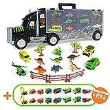 Camion Bisarca Giocattolo Dinosauri Macchinine Auto Giocattolo per Bambini Camion Trasportatore Regalo Ragazza Ragazzo 3,4,5,6 Anni