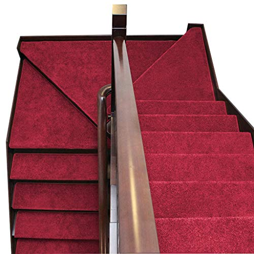 Tappeto per scale autoadesivo set di 5 65x24cm skid-resistant tappeto setstep non scivolare floor protector lavabile disponibile in 5 colori (colore : c)
