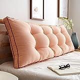 Japaner Baumwolle Bettruhe Kissen,Rückenlehne kopfteil Polster,Einfache Pp-Baumwolle Schaumstoff gefüllt Herausnehmbarer Abdeckung Für Sofa oder Bett-A 90x50cm(35x20inch)