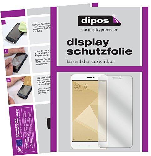 Xiaomi Redmi 4X Schutzfolie - 2x dipos Displayschutzfolie Folie klar