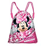 DISNEY Minnie Bubble Gum - Sacca con Cordoncini per Bambini - Colore: Multicolor