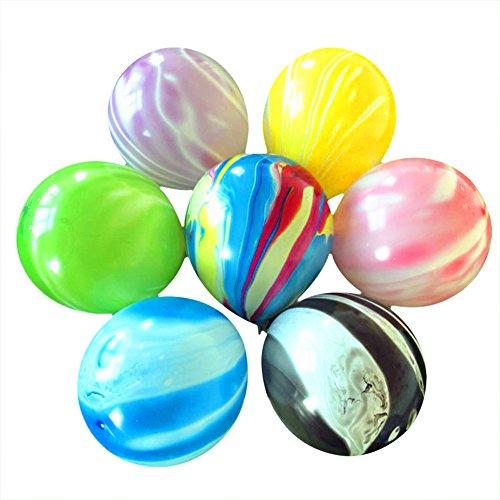 Drawihi 100PCS Agata espesa alrededor de globo nubes de color y Globo de arcoiris de globo de mármol