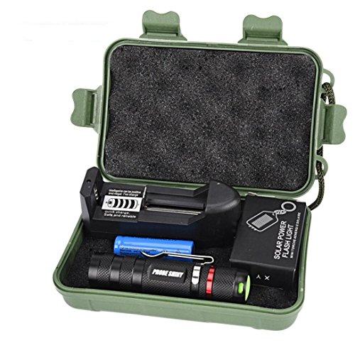 Preisvergleich Produktbild Kaiki Taschenlampe - G700 Zoomable XML Q5 LED-taktische Taschenlampe + 14500 Batterie + Aufladeeinheit + Fall