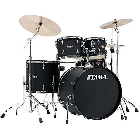 Tama ip52kh6N de bbob Imperial Star Drumkit (Drum Set complet avec tabouret, Chaudron en bois sechslagigem peuplier Kit, structures doubles, MEINL MCS Bac inclus) Backed Out Black