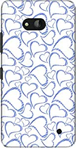 The Racoon Lean printed designer hard back mobile phone case cover for Microsoft Lumia 640. (Blue Heart)