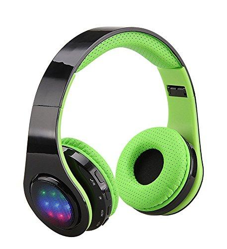 Excelvan Wireless Bluetooth Stereo Kopfhörer Headset mit eingebautem Mikrofon, Bluetooth 3.0, Noise Isolation für iPhone 6S 65S 5, iPad 234mini Air, Android, Samsung, HTC, Smartphones, Tablets und andere Bluetooth Geräte (Bluetooth-kopfhörer Grün)
