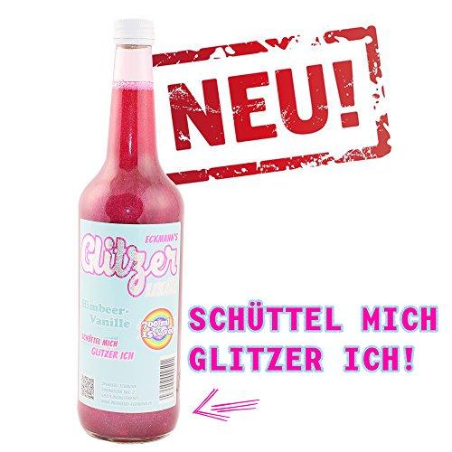 Fruchtsaft Likör / Schnaps mit Himbeer und Vanille / Schüttel mich, Glitzer ich 'GLITZER - LIKÖR'...