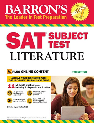 Barron's SAT Subject Test Literature with Online Tests - Act-test Barron