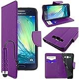ebestStar - pour Samsung Galaxy A5 SM-A500F (2015) - Housse Coque Etui Portefeuille Support PU Cuir + Mini Stylet tactile, Couleur Violet [Dimensions PRECISES de votre appareil : 139.3 x 69.7 x 6.7 mm, écran 5'']