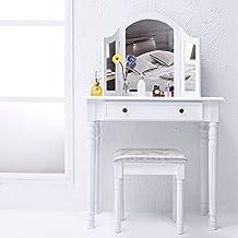 Amazon.fr : meuble coiffeuse avec miroir