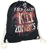 Keep Calm And Kill Zombies Turnbeutel schwarz