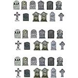 36 colocar sobre la mesa de noche de brujas lápidas comestible Premium cuadrícula de papel para adornos de decoración