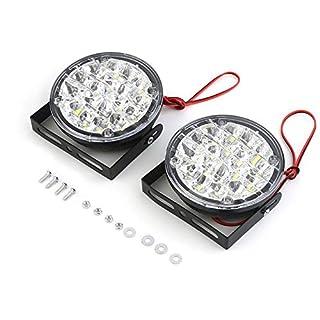 2pcs / set Wasserdichte 24V 18 LED-runde Form-Auto-Nebel-Lampen-Fahren Tagfahrleuchte mit ultra Helligkeit