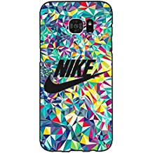Glass Background Design Logo Nike Phone caso Cover for Funda Samsung Galaxy S7 Edge Just Do It Luxury Pattern