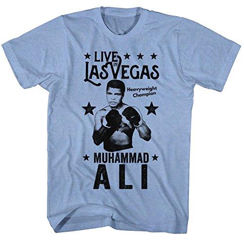 Muhammad Ali Herren T-Shirt Lt Blue Heather