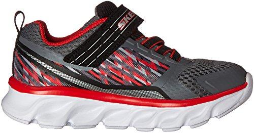 Skechers Hypno-Flash-Tremblers, Scarpe Running Bambino Multicolore (Charcoal/red)